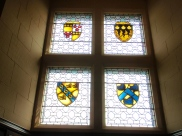 Wonderful stained glass art work throughout the castle.