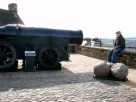 Tyler getting ready to take the huge blow from Mons Meg!