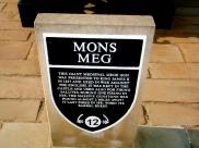 Here is the Mons Meg audio tour information plaque.
