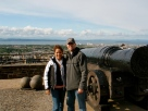 Tyler and I with Mons Meg.
