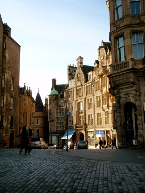 Street view along the tour in Edinburgh