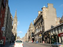 Photo of an Edinburgh street
