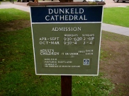 Dunkeld Cathedral Sign