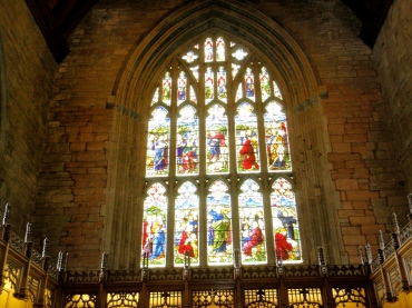 Amazing stained glass at Dunkeld Cathedral