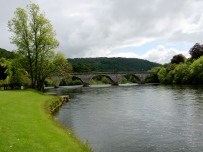 Beautiful River Tay right outside Dunkeld Cathedral