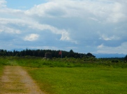 Battlefield at Battle of Culloden - Red flag represents where the Duke of Cumberland's troops stood.