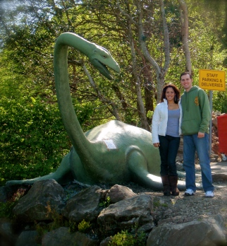 Statue of Nessie at our rest stop