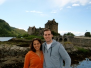 Tyler and I at the Eilean Donan Castle