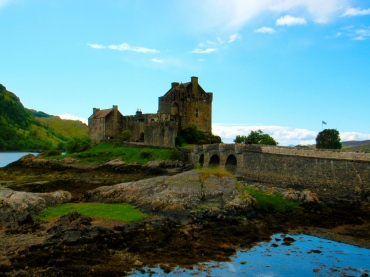 Beautiful view of Eilean Donan Castle