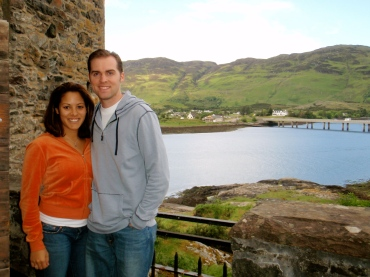 Tyler and I stopped to take a photo during our castle tour