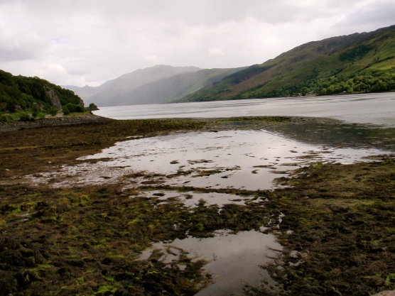 Beautiful view of where Loch Long and Loch Duich meet outside the castle