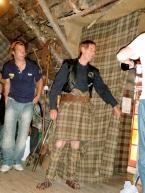Our show host displaying a Scottish kilt tartan