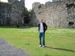 Tyler outside the castle