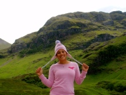 Trying on my new hat in Glencoe