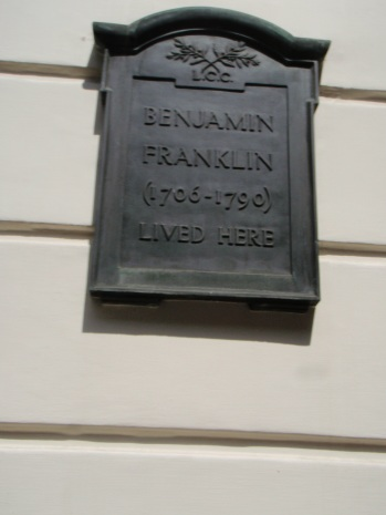 Just randomly ran into Ben Franklin's old stomping grounds