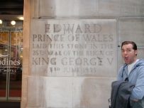 Edward Prince of Wales laid a stone stones