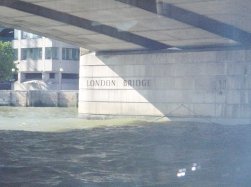 Going under London Bridge
