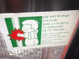 Cute French warning sign
