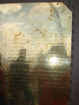 Informational golden plaque