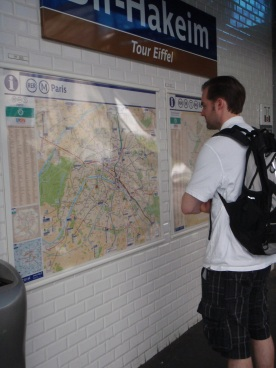 Checking out the Metro map