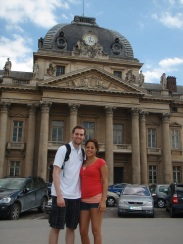 Tyler and I outside Ecole Militaire