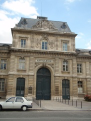 Entrance to the Artillerie at Ecole Militaire