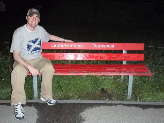 Tyler chilling on the city bench