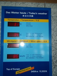 They put a thermometer out so you can confirm just how cold it was!