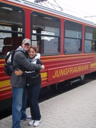 Saying goodbye to the Jungfraujoch train.
