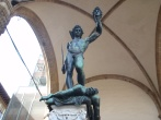 Statue of Perseus with the head of Medusa