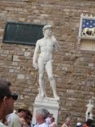 David statue replica in Piazza della Signoria