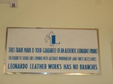 Sign in Leonardo Leather Works