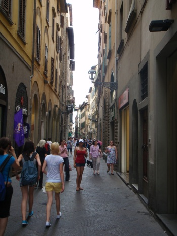 Strolling through the streets of Florence