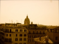 Skyline once you walk up the Spanish Steps