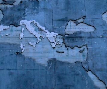 Map of Italy along Via dei Fori Imperiali