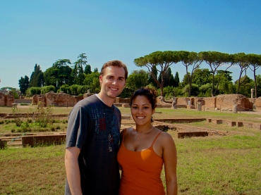 Tyler and I standing where Ancient Romans once roamed