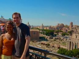 Roman Forum behind us