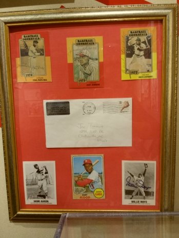 Cool Papa Bell mailed some baseball cards