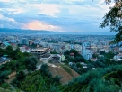 Evening Skyline of Tirana from Chateau Linza