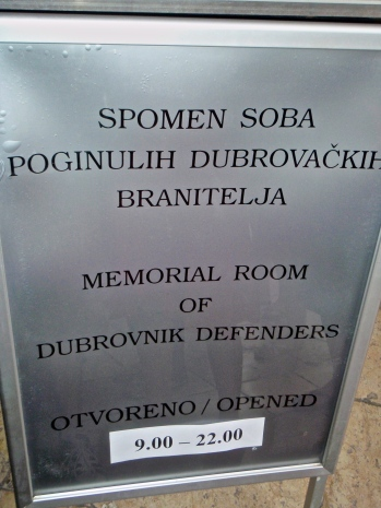 Memorial Room of Dubrovnik Defenders in Old Town