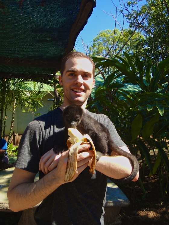 Holding a baby monkey - Costa Rica