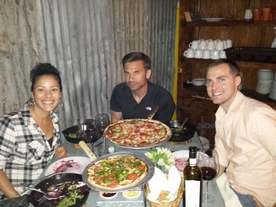 The Jessetters enjoying dinner