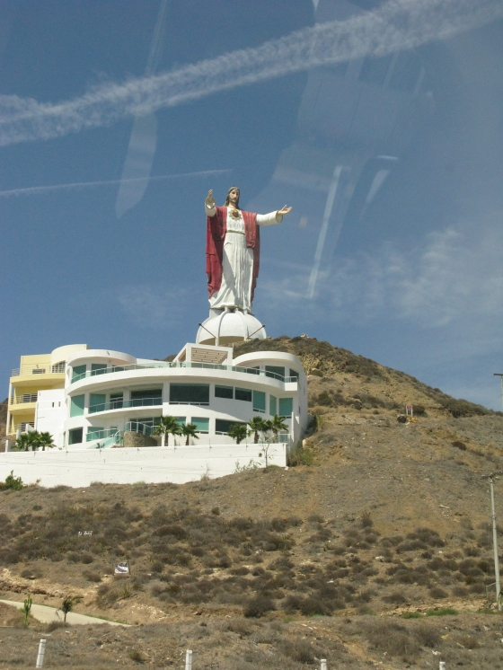 Huge statue on the way to Puerto Nuevo