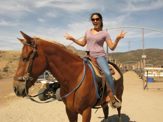 Mrs. Jessetter on her horse