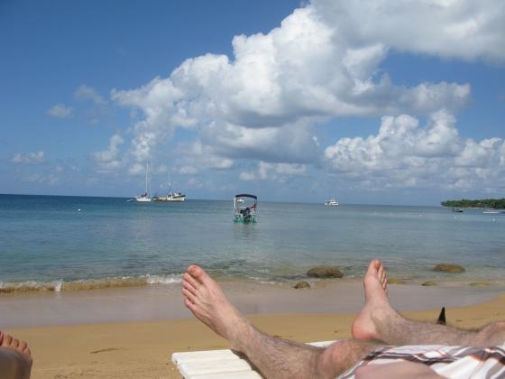 Enjoying island life