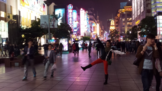 Mrs. Jessetter in heaven on Nanjing Road