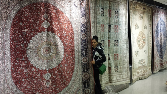 Silk carpet factory