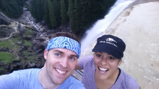 We made it to the top of Vernal Falls in (my) record time!