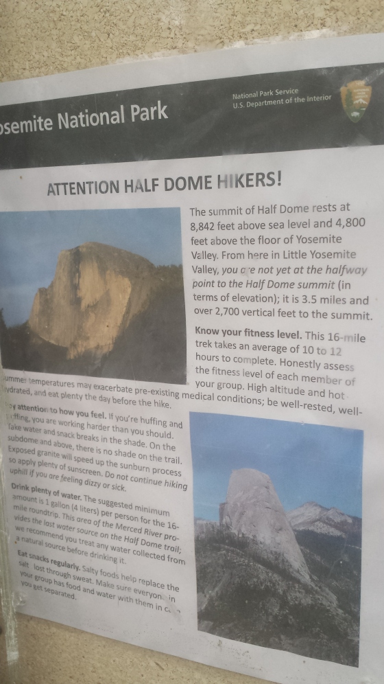 Attention hikers! I have to agree with the water amount on this sign!