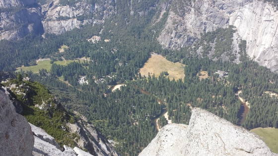 A view down to the valley